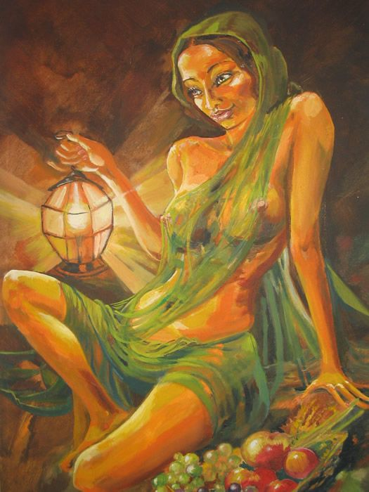 nude indian women paintings