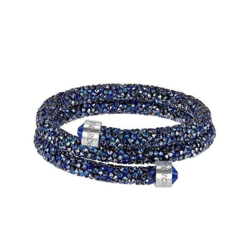 Bracelet jonc double Swarovski Crystaldust bleu 52559083 5255903 ...