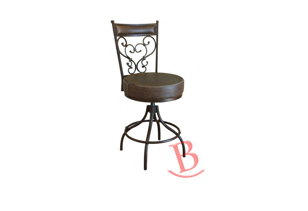 Pleasing 24 30In Adjustable Swivel Stool With Bonded Leather Seat Caraccident5 Cool Chair Designs And Ideas Caraccident5Info