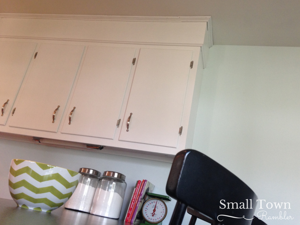 Updated kitchen, Benjamin moore ocean air
