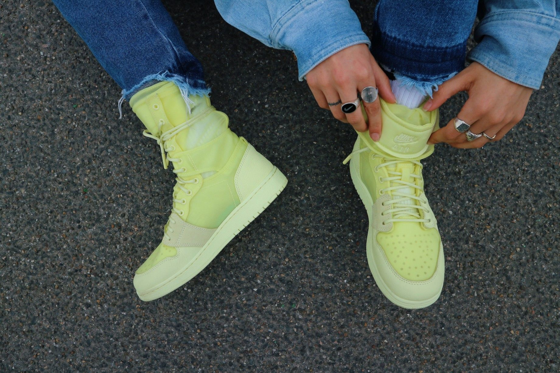sports shoes 59aa4 6c0fd Mein Frühlingsschuh Der NIKE Air Jordan 1 Explorer XX Luminous Green