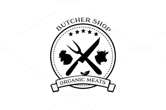 butcher shop labels badges logo badge logo butcher shop and badges rh pinterest com butcher color warframe locations butcher logo design