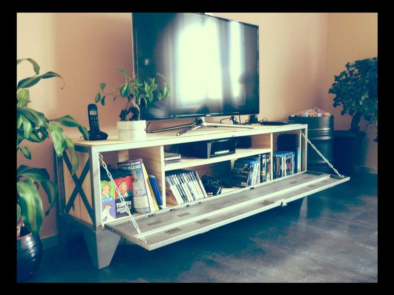 meuble tv vestiaire industriel meubles mon mobilier. Black Bedroom Furniture Sets. Home Design Ideas