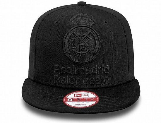 Tonal Black Real Madrid Snapback Cap By EURO LEAGUE X NEW ERA