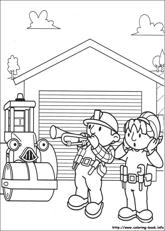 Awesome Bob The Builder 100 Coloring Page