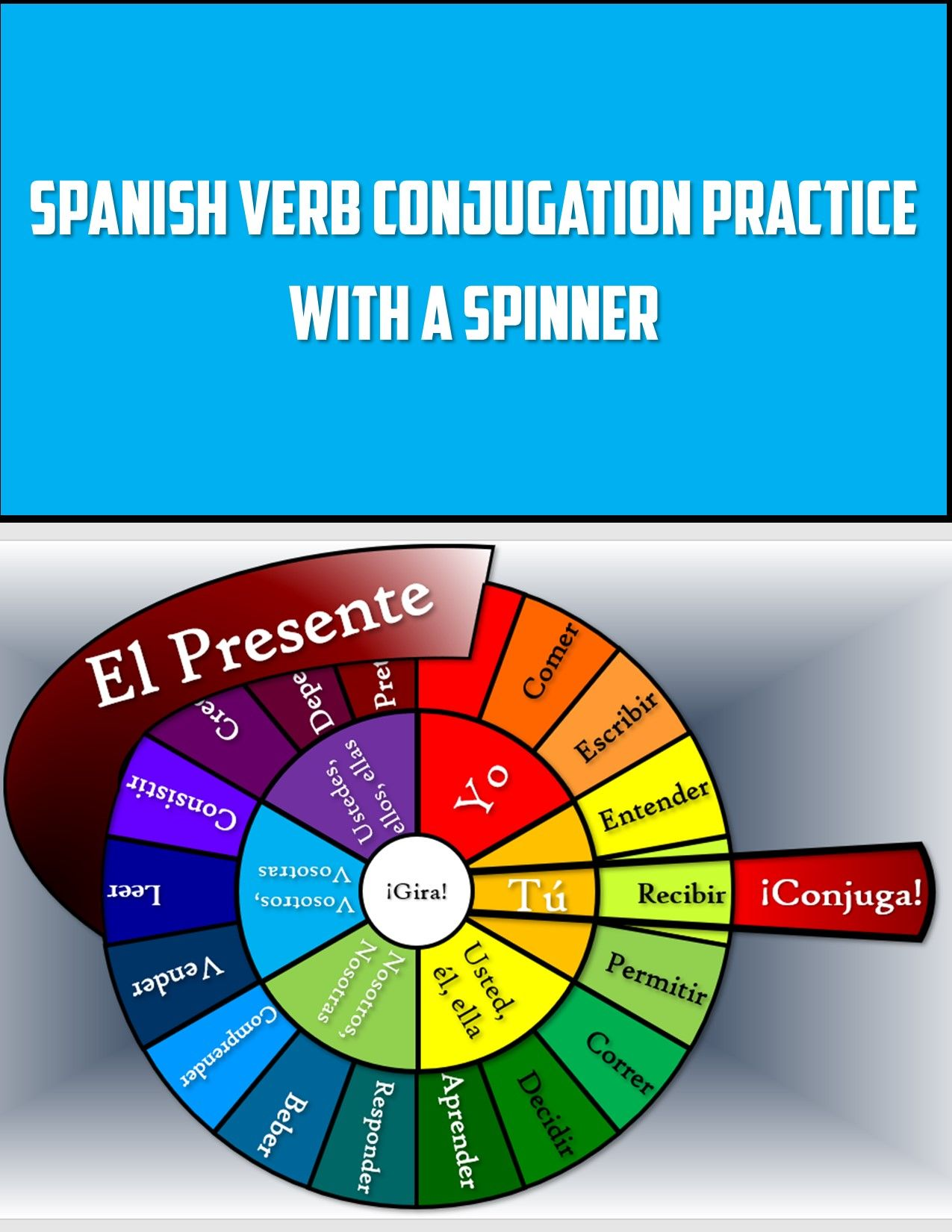 Spanish Verb Conjugation Practice With A Spinner In