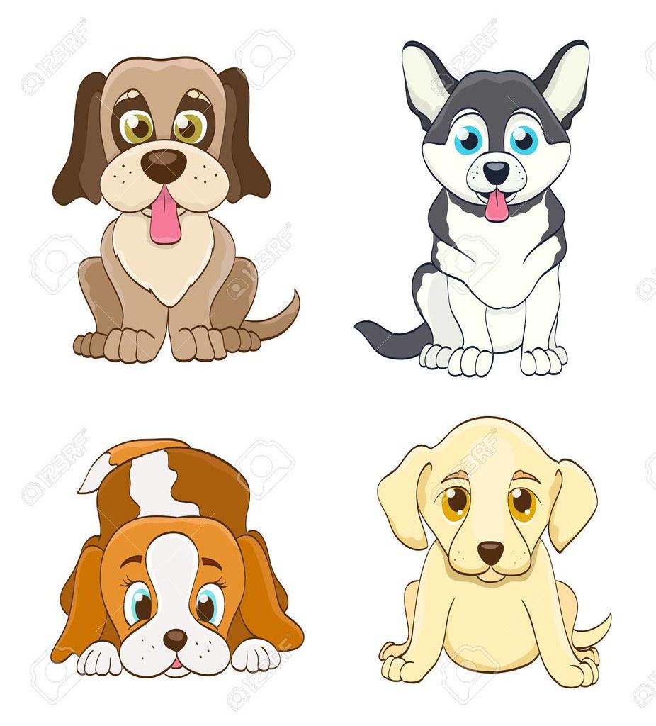 Dog Drawing Set Buscar Con Google Perro De Dibujos Animados Dibujos De Perros Perros