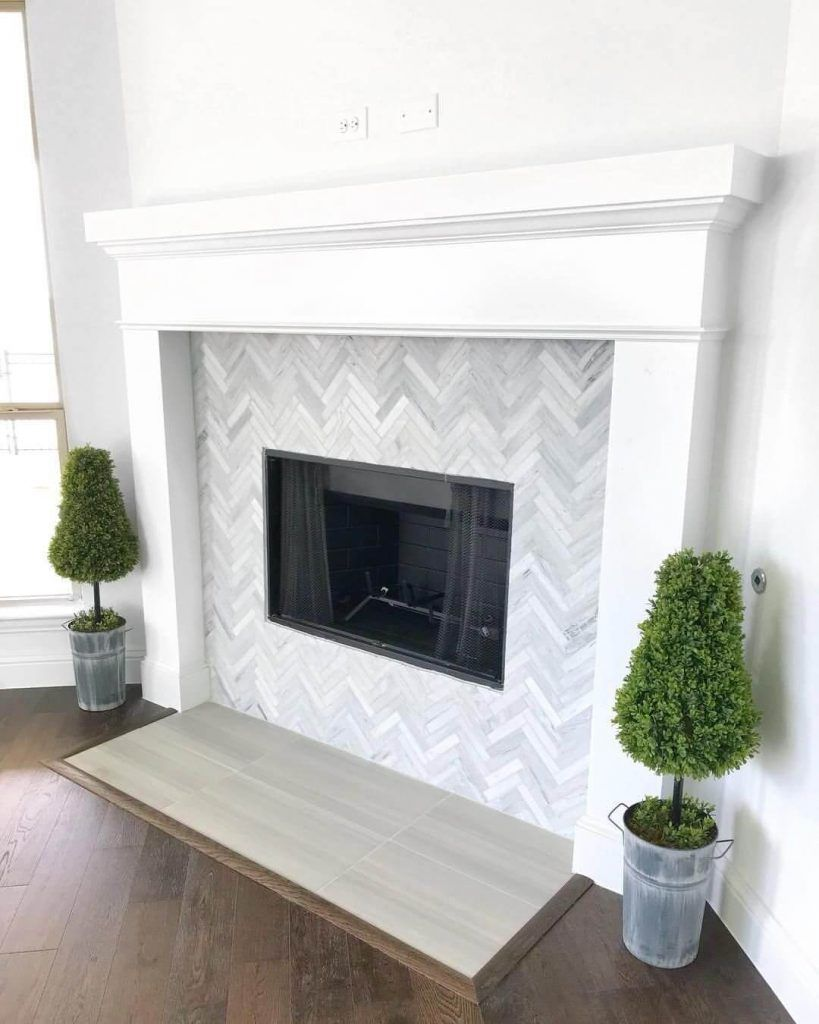 17 Stylish Fireplace Tile Ideas You Should Try For Your Fireplace Fireplace Tile Surround Fireplace Tile Fireplace Design