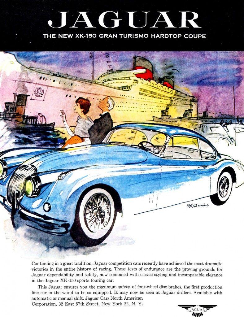 1957 Jaguar Xk150 Coupe Ad Klassieke Auto S Oude Auto S Auto S En Motoren