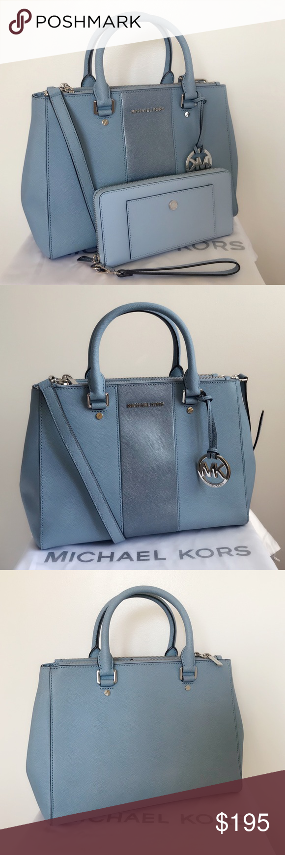 60d686e4dce1 Spotted while shopping on Poshmark: Michael Kors Sutton Satchel And Wallet!  #poshmark #fashion #shopping #style #Michael Kors #Handbags