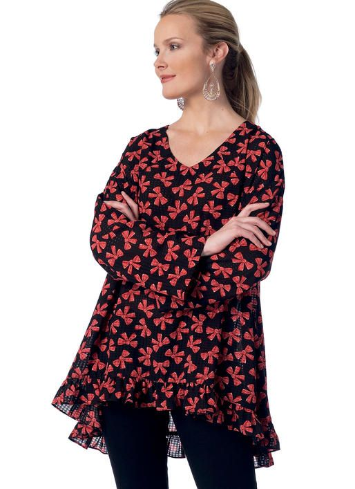 1f50a6b8d1d New tunic sewing pattern from Butterick See & Sew. B6345 Misses' V-Neck Tops  with Pockets or Ruffle-Hem
