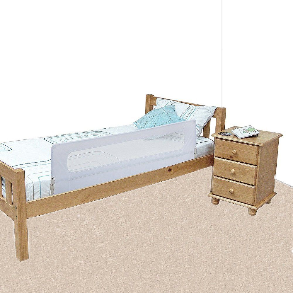 Safetots Bed Rail White Durable, Fold Away, Portable