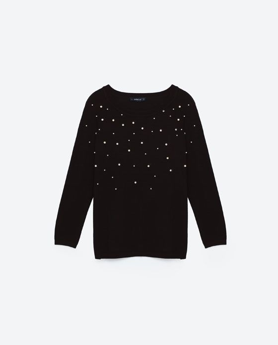 f752fe1cb35 Image 8 of SWEATER WITH PEARL BEADS from Zara | Stuff to Buy