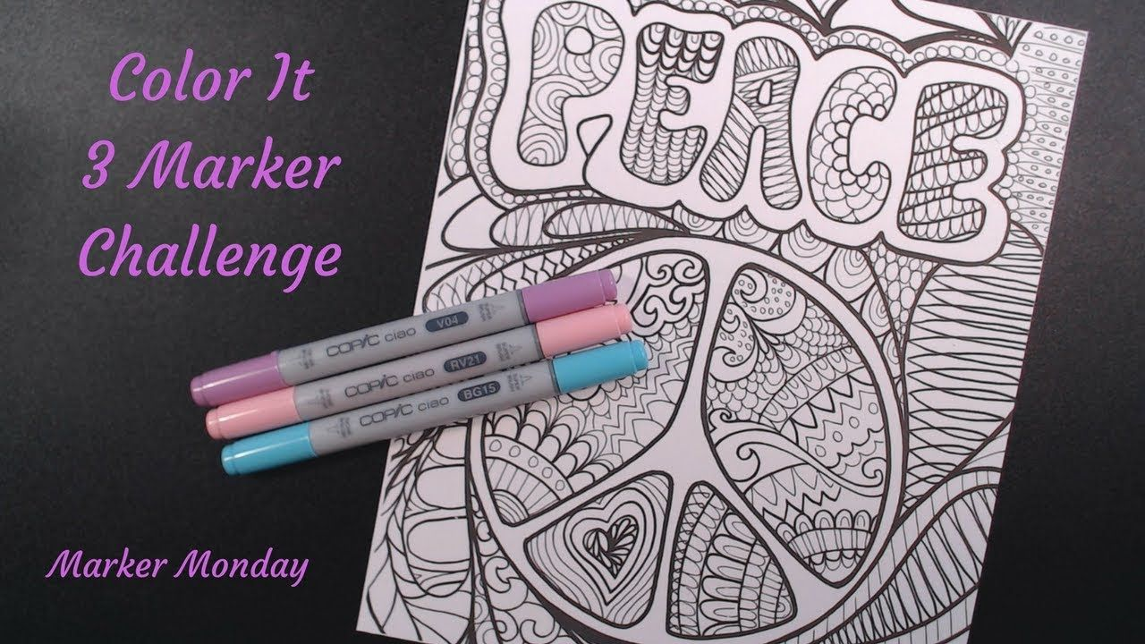 Color It 3 Marker Challenge//Copic Ciao//Marker Monday ...