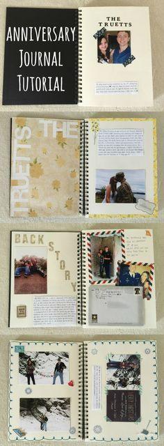 Anniversary Book Ideas : anniversary, ideas, Anniversary, Journal!, Gift!, Ideas, Inside, Scrapbook,, Journal,