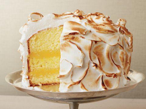 Fabulous Lemon Meringue Cake Recipe Lemon Meringue Cake Dessert Funny Birthday Cards Online Overcheapnameinfo