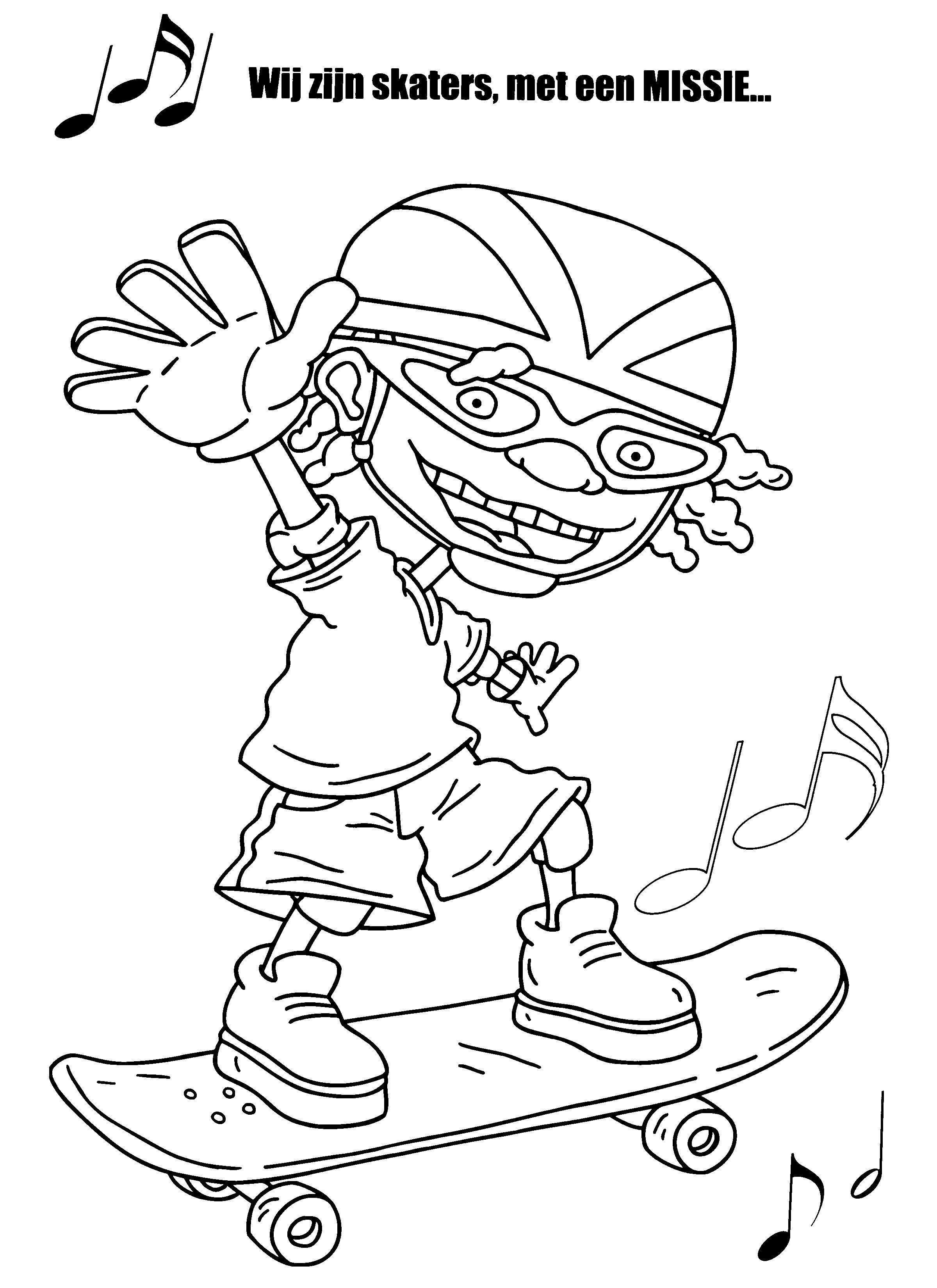 ausmalbilder skateboard mädchen  dorothy meyer grundschule