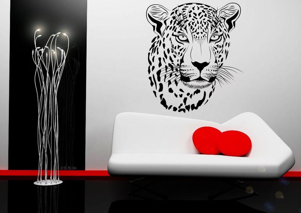 Leopard Big Cat Wild Abstract Wall Art Sticker Decal Mural Stencil Vinyl  Print