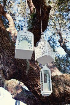 Hanging Lanterns for an outdoor wedding