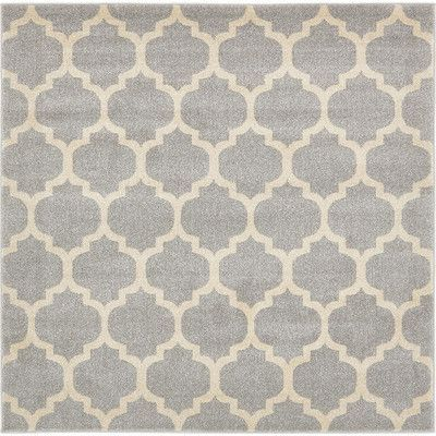 Unique Loom Trellis Light Gray Area Rug Rug Size: