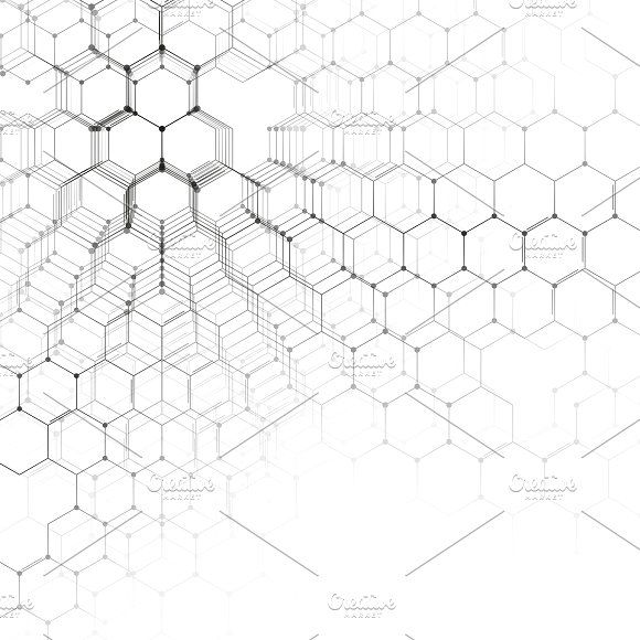 Chemistry 3d Pattern On White Graphics Chemistry 3d Pattern