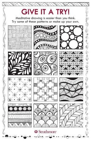 free downloadable template with patterns designs for meditative drawing designs by jane oliver by suzana