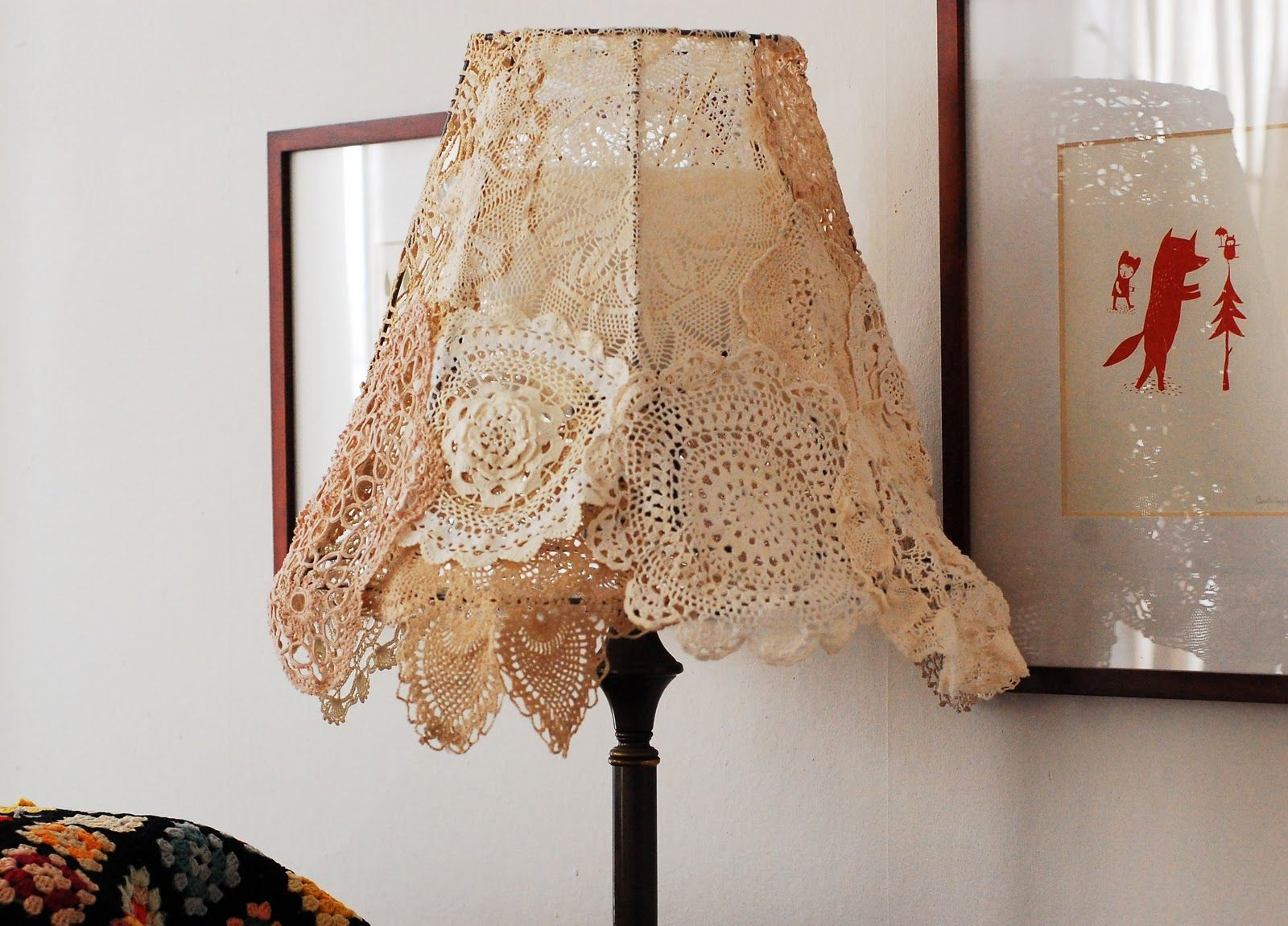 For a hint of vintage make this doily lampshade from maize hutton crochet lamp arubaitofo Images