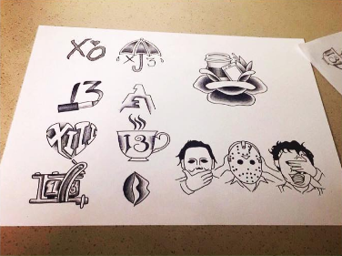 13 Cool Friday the 13th Tattoo Flash Sheets Friday the