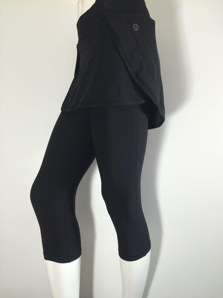 1baaf2e69c VOGO Athletica (Medium) Women's Black Yoga, Running Skirt with Capri  Attach. #VOGOAthletica #PantsTightsLeggings