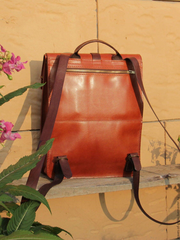 Купить или заказать Городской кожаный рюкзак в интернет магазине на Ярмарке  Мастеров. С доставкой по 350360c70d1