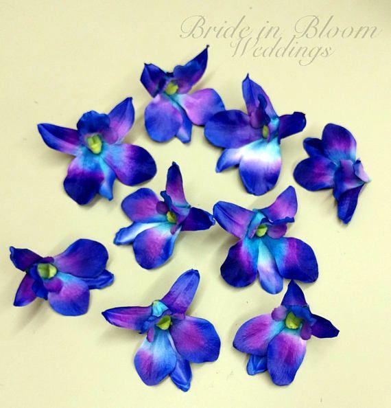 Blue Orchid Flowers Blue Orchids Wedding Decorations Diy Wedding Supplies Silk Orchids Blue Turquoise Orchid Blooms Blue Orchid Wedding Diy Wedding Supplies Blue Orchid Flower