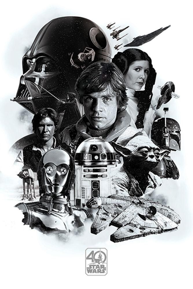 Star Wars - 40th Anniversary Montage - Poster