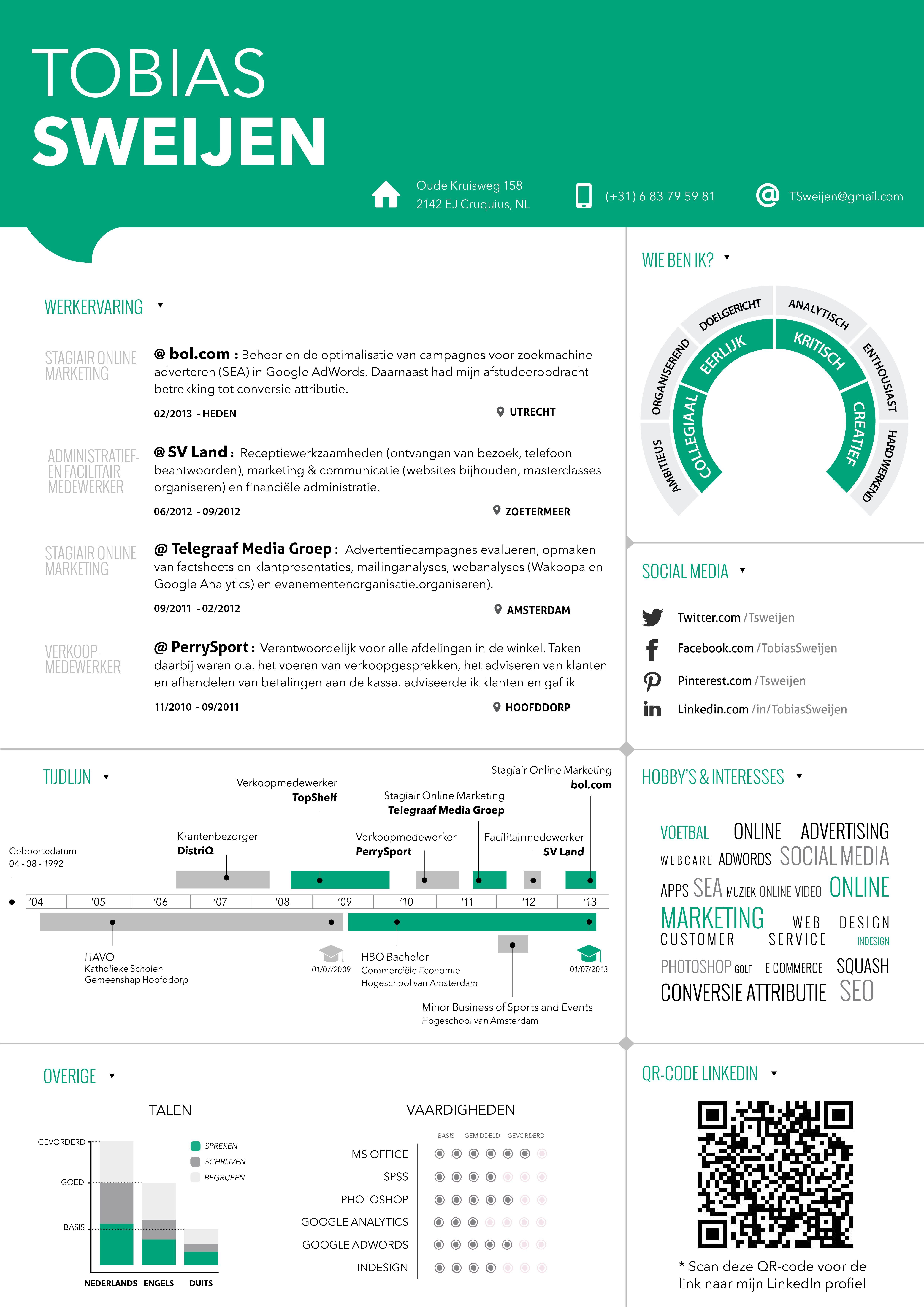 Nieuw CV Thema ! #CV #Resume #Infographic #CVDesign #Curriculum ...