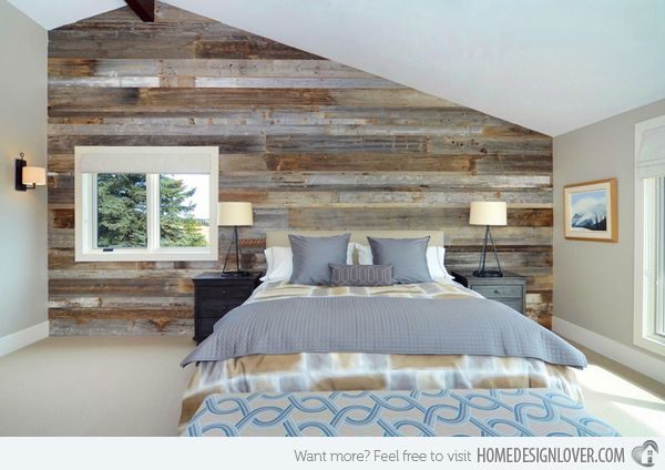Pin By Deb Vaughn On Barn Board Feature Wall Bedroom Wood Accent Wall Bedroom Bedroom Wall Designs