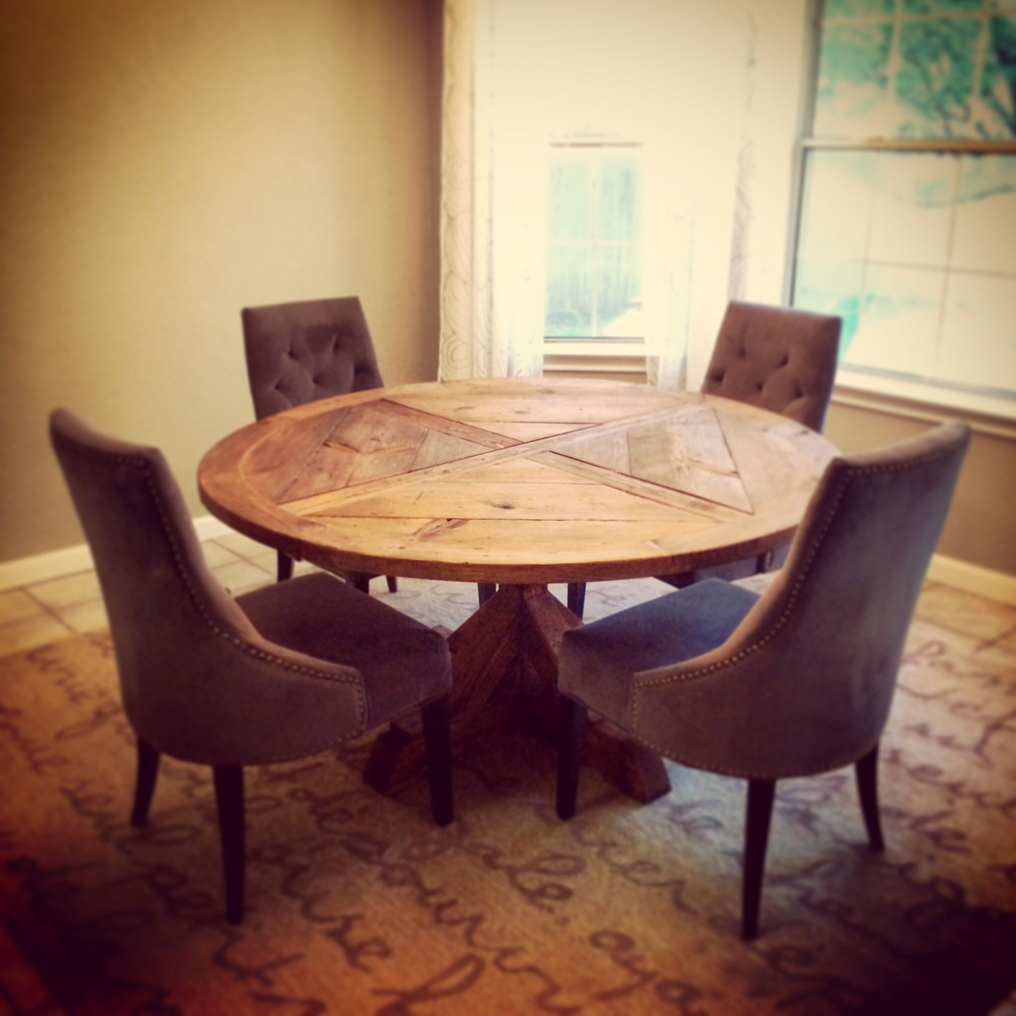 After Dining Room With New Diy Ed Table As Of June