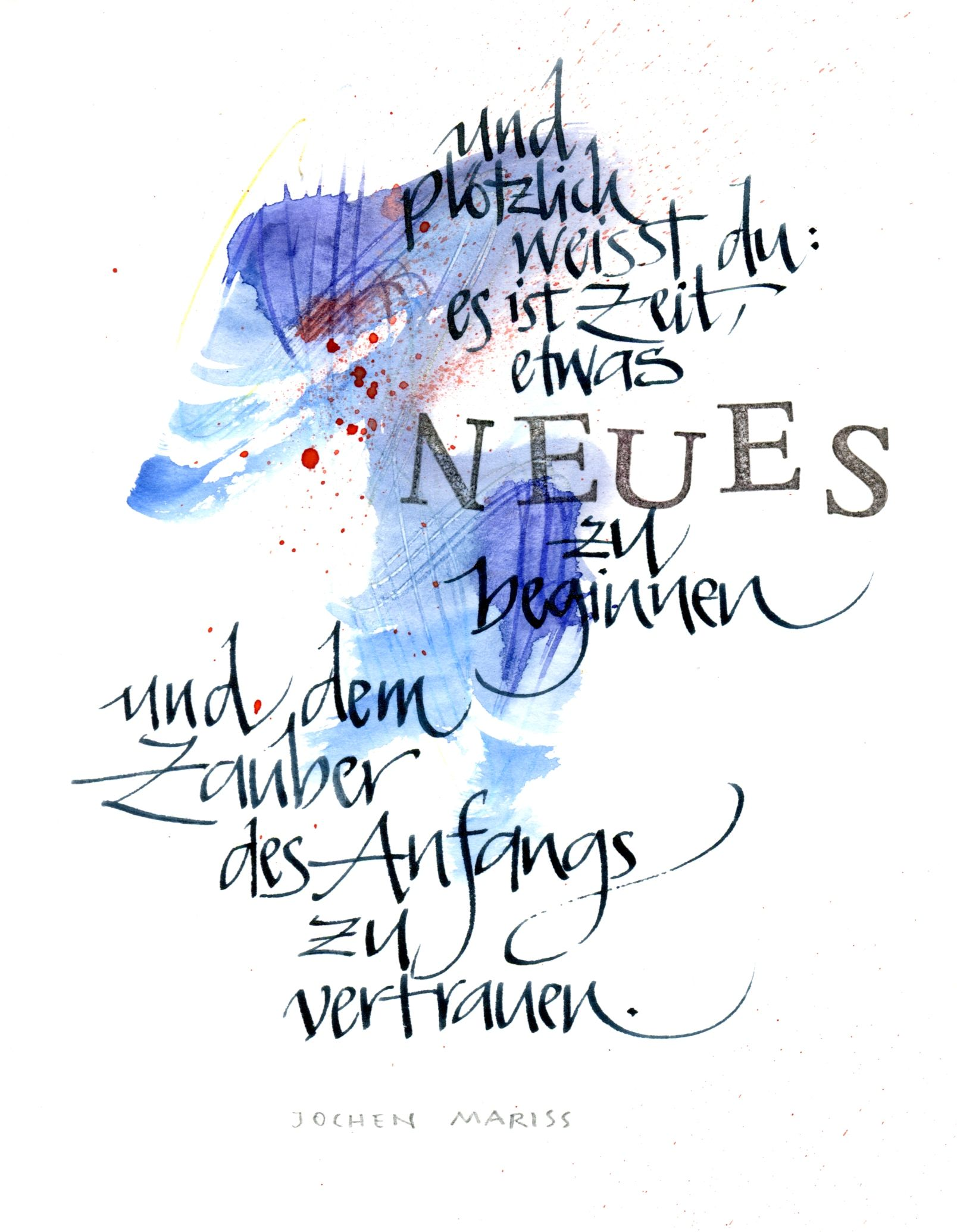 writing on aquarell   Inspirierende sprüche, Sprüche ...