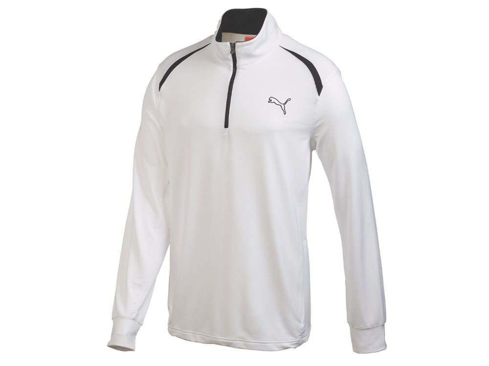 Stay warm on chilly mornings with deals from Swing Golf. New Men's Puma  Golf Cool Cell Long Sleeve Zip White Medium - 565505