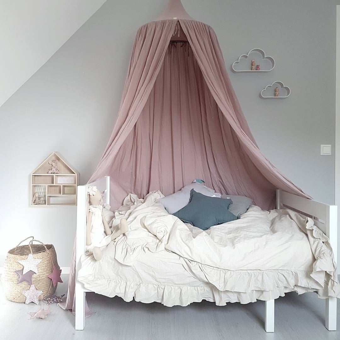 Little Girl Canopy Bed Ideas Amazing Styling Featuring Our Dusty Pink Canopy And Star