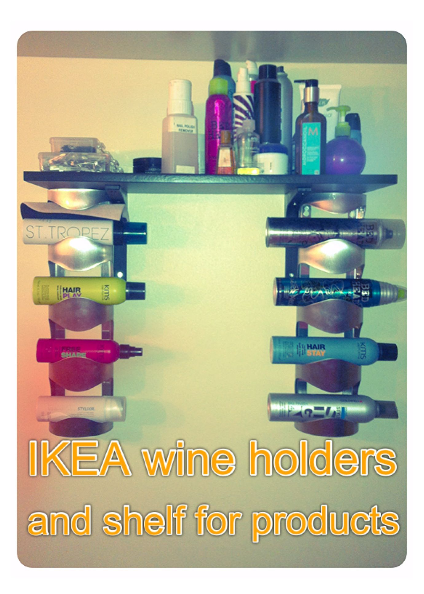 Ikea wine holders & shelf. Under $25.00 use for towels ...