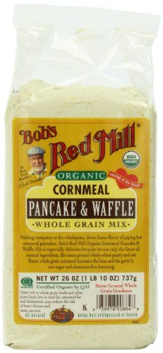 Bob's Red Mill Organic Cornmeal, Pancake & Waffle, Whole Grain Mix, 26-Ounce Bags (Pack of 4) - http://goodvibeorganics.com/bobs-red-mill-organic-cornmeal-pancake-waffle-whole-grain-mix-26-ounce-bags-pack-of-4/