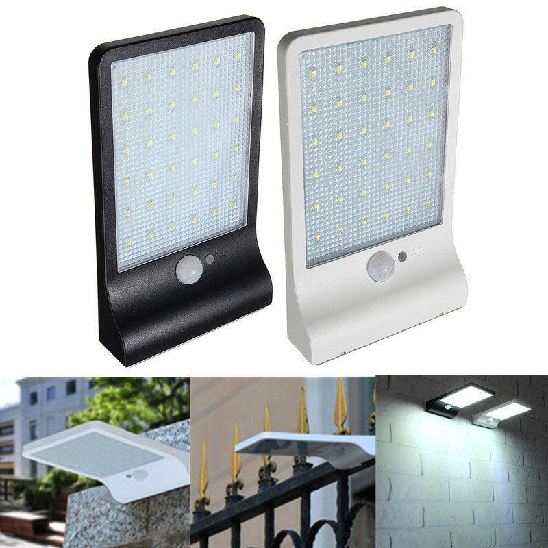 Waterproof Solar Powered LED Light Motion Sensor Outdoor Garden Wall Street Lamp