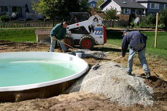 Swimming pools 101 pool installation fiberglass pools for Fiberglass pool installation