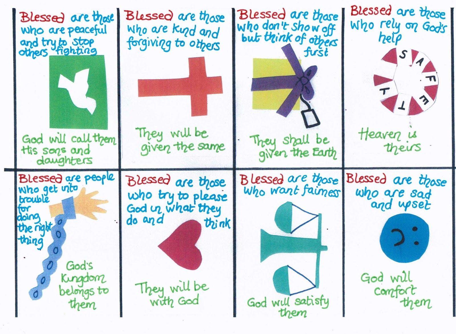 Beatitudes Cards Explaining The Beatitudes In Child