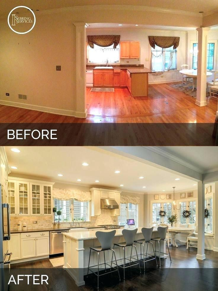 Tri level home decor level remodel before and after for Kitchen remodel before after