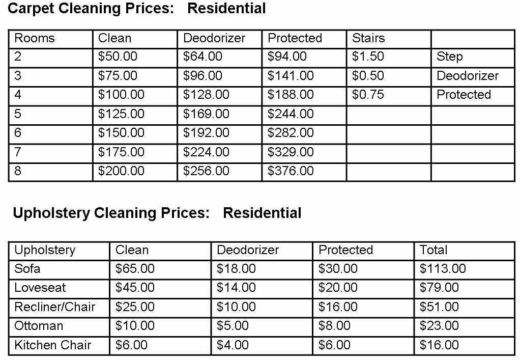 40 house cleaning price list in 2020 house cleaning