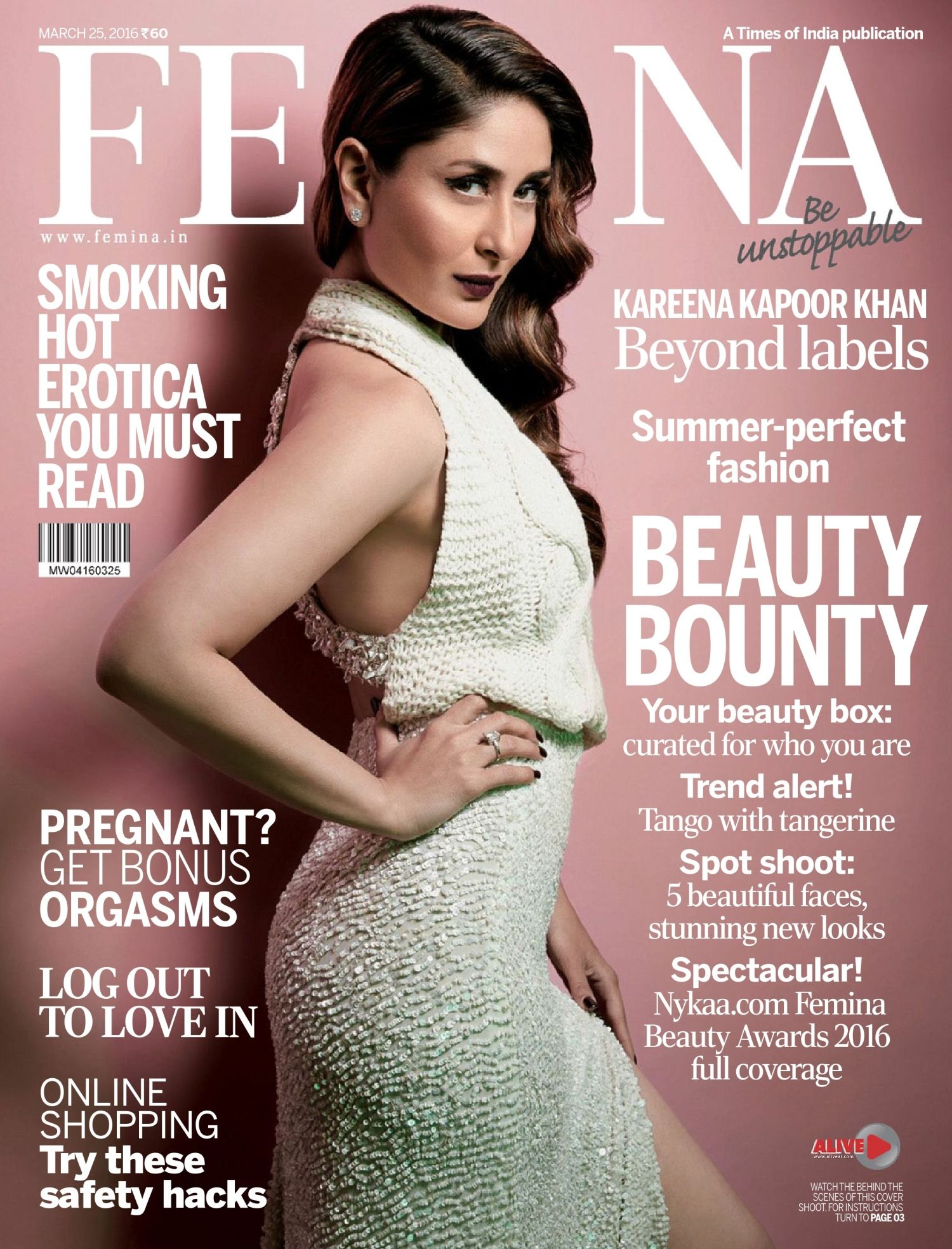 Femina, March 2016. Kareena Kapoor on the Magazine Cover ...