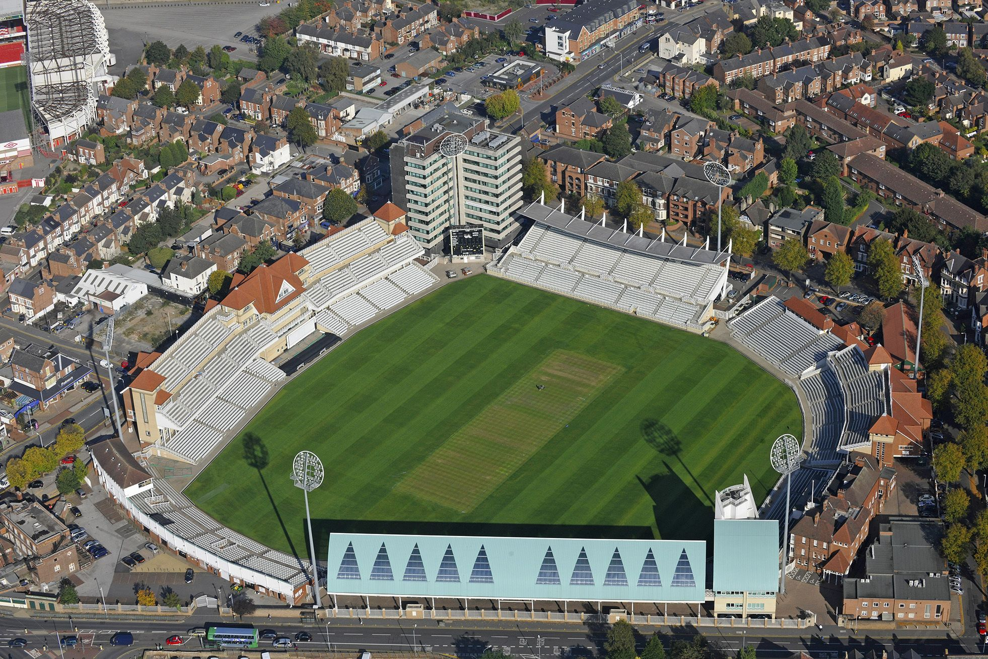 Glorious Aerial Photo Over Trent Bridge Cricket Ground In West Bridgford Nottinghamshire Ready For Today S England Vs P Aerial Photo Aerial Aerial Photography