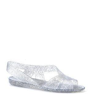 554d6c977904 Crystal (Clear) JuJu Clear Glitter Twist 86 Jelly Sandals | 255511090 | New  Look