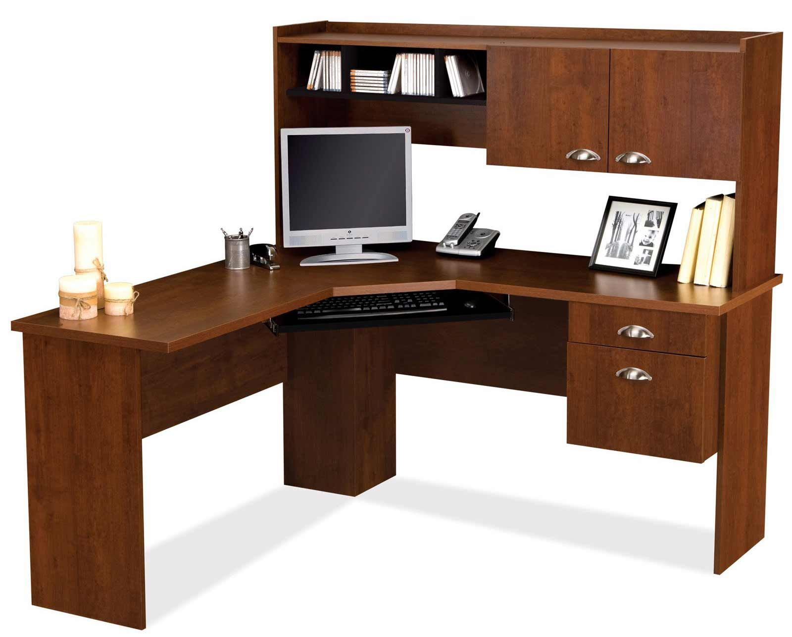 Bestar Delta Tuscany Brown L Shaped puter Desk