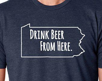Drink Beer From Here- Pennsylvania- PA Craft Beer Hoodie uXzsyJr